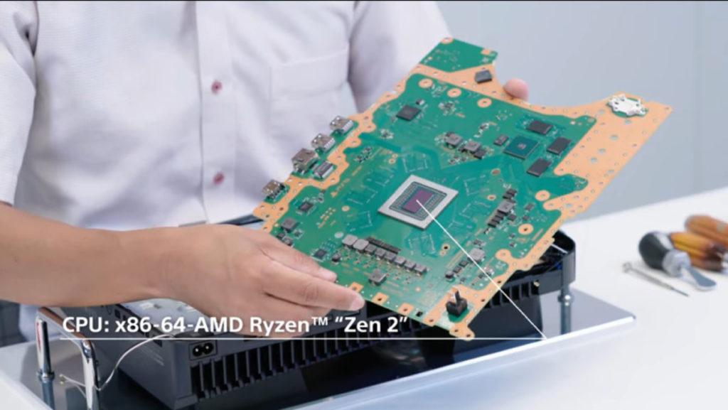 PS5 核心 AMD Zen 2 CPU 直接焊於主板上,沒有 Socket。