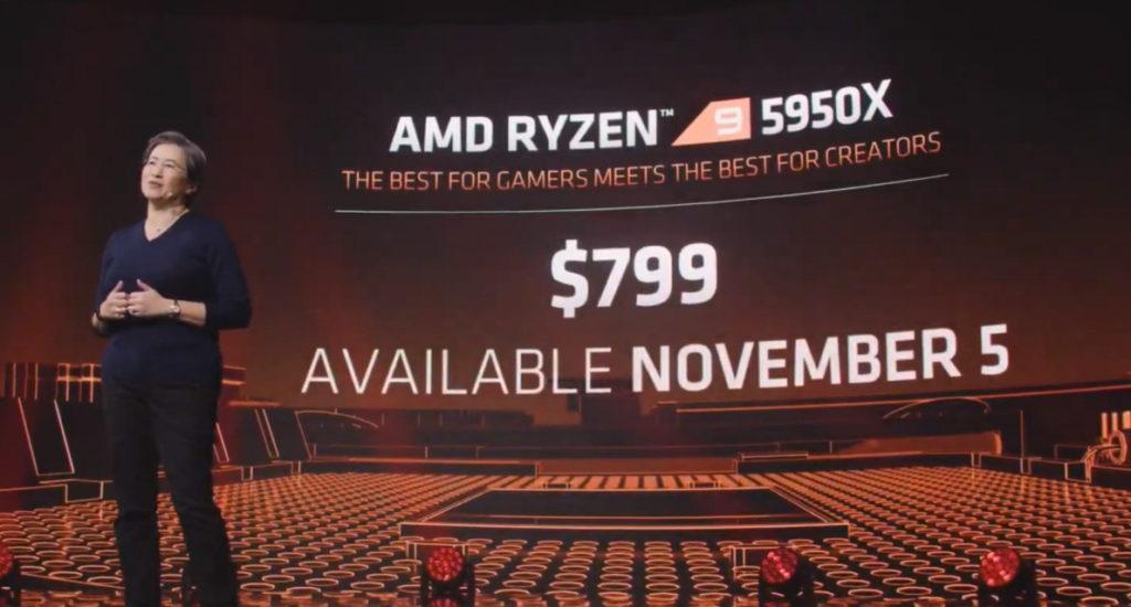 Ryzen 9 5950X 定價為 US$799 。