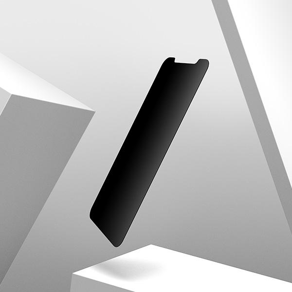 UltraGlass Privacy Screen Protector 直向提供全螢幕防窺保障,橫向就可以分享螢幕。