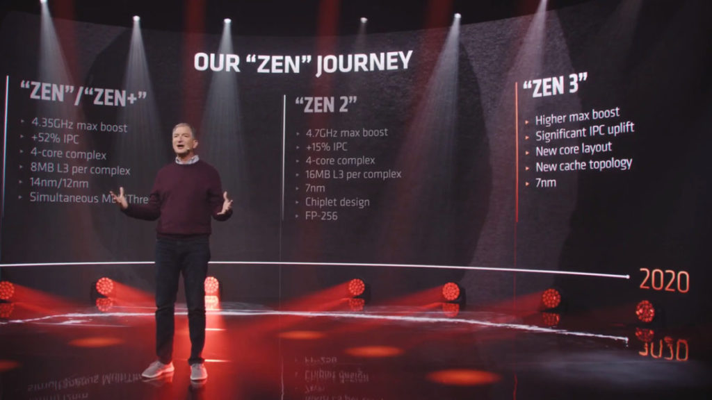 AMD CTO Mark Papermaster 展示 Zen 3 設計目標。