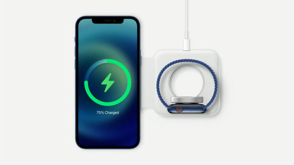 MagSafe Due 充電器可以同時替 iPhone 和 Apple Watch 充電,並可以摺疊起來方便攜帶。