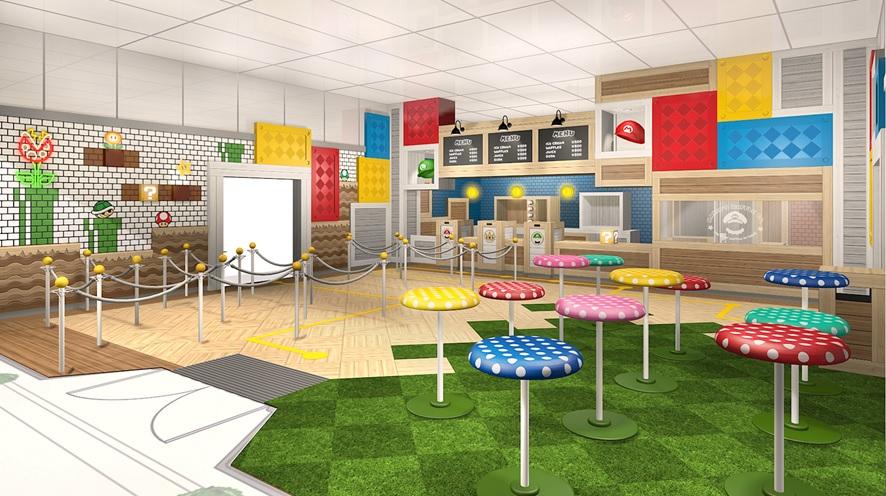 瑪莉奧 Cafe & Store 裡面充滿遊戲的不同元素