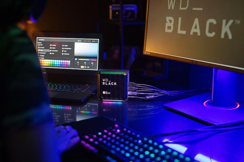 機身的 RGB 燈效可以透過 Windows 軟件 WD_BLACK Dashboard 來完全自訂。