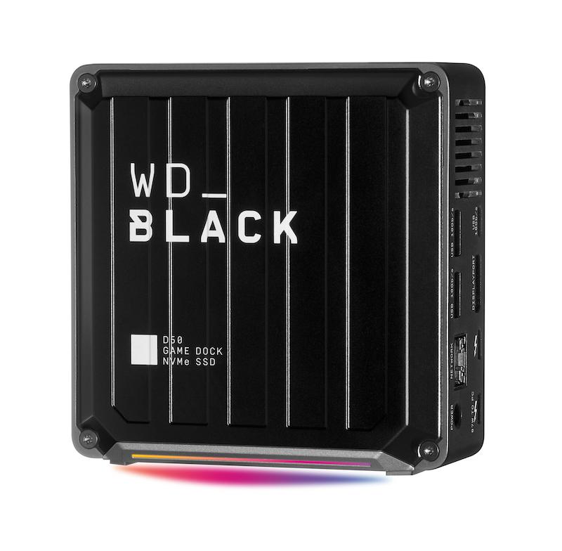 D50 NVMe SSD Game Dock 同時具備高速儲存、多樣化連接和 RGB 燈效功能。