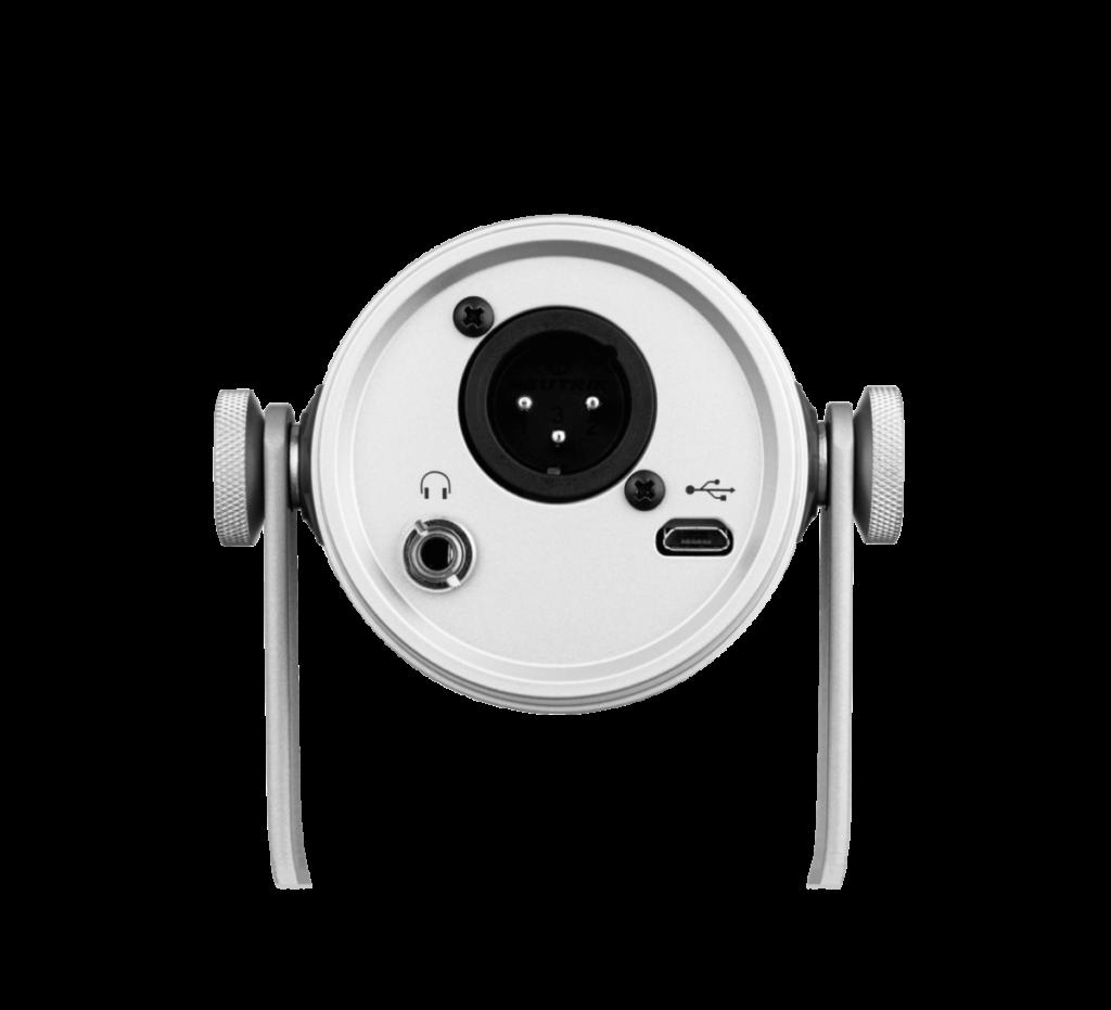 MV7 同時提供 USB 和 XLR 接口,並備有 3.5mm 耳機插以便接上耳機作鑑聽。