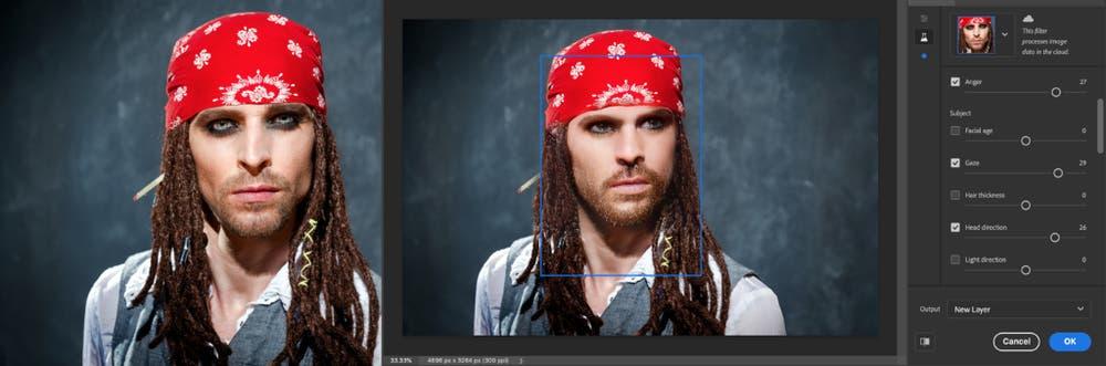 透過智能人像功能可以改變照片中人像的表情、頭部方向以至年齡和膚色。