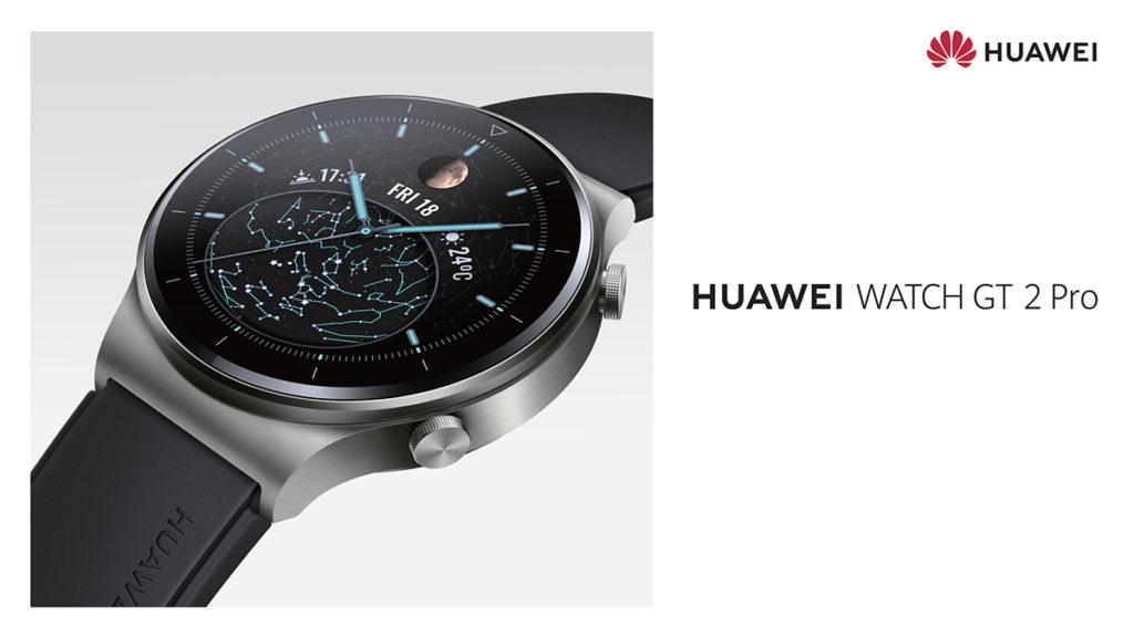 HUAWEI WATCH GT 2 Pro 使用鈦金屬錶身及耐磨抗刮的藍寶石錶面。