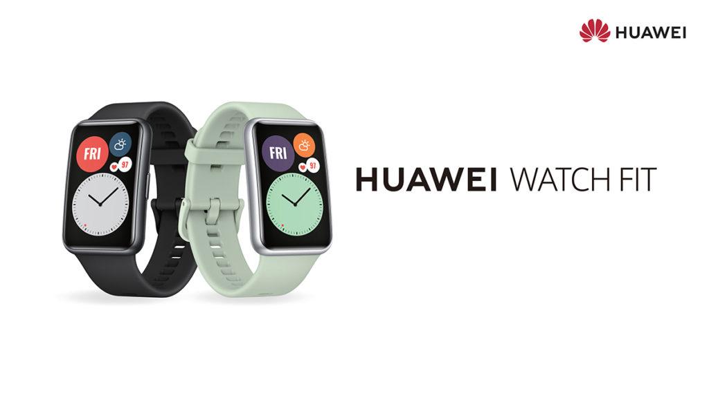 方型設計的HUAWEI WATCH FIT外型潮流。
