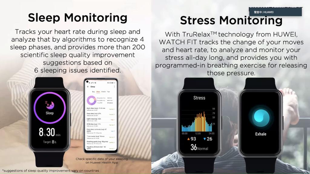 亦具備睡眠及壓力監測功能。
