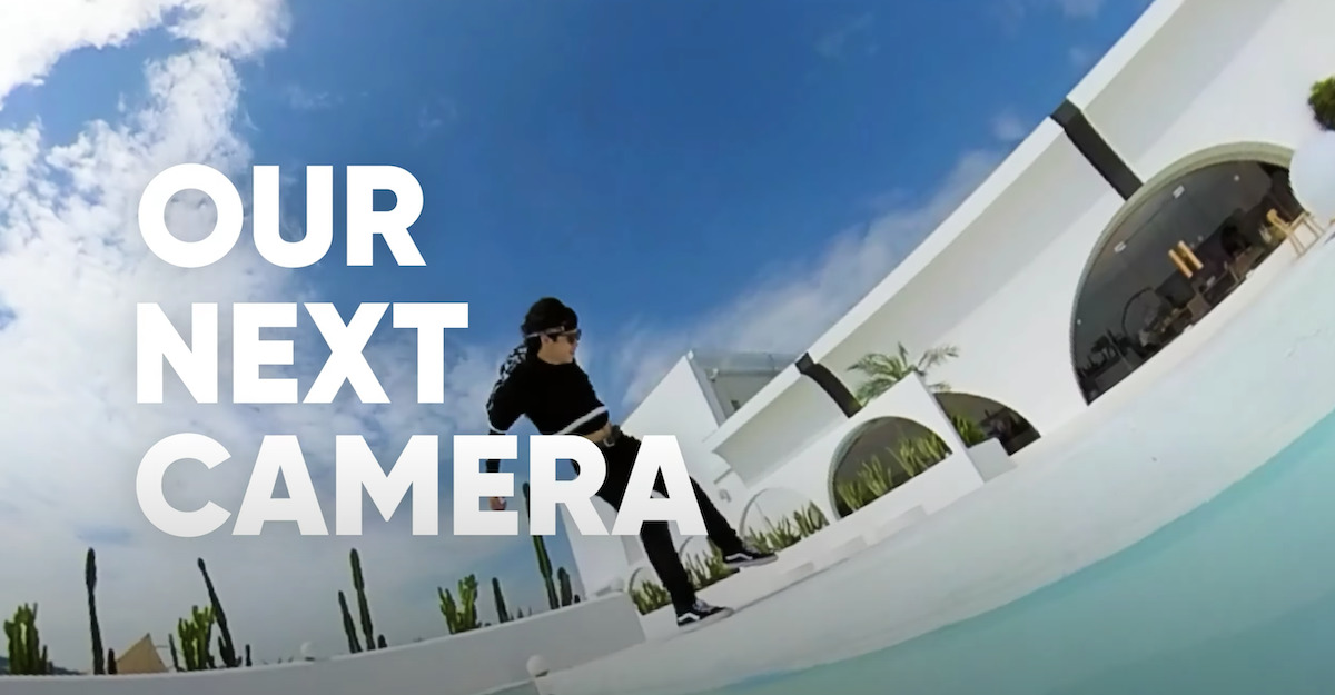 insta360 官方 YouTube 頻道中的新機預告片,一開始就大大隻字寫著「Our Next Camera」。