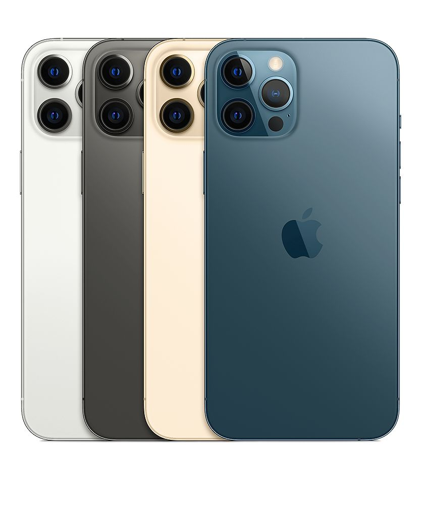 Phone 12 Pro 及 iPhone 12 Pro Max 均備有銀色、石墨色、金色及太平洋藍色四款。