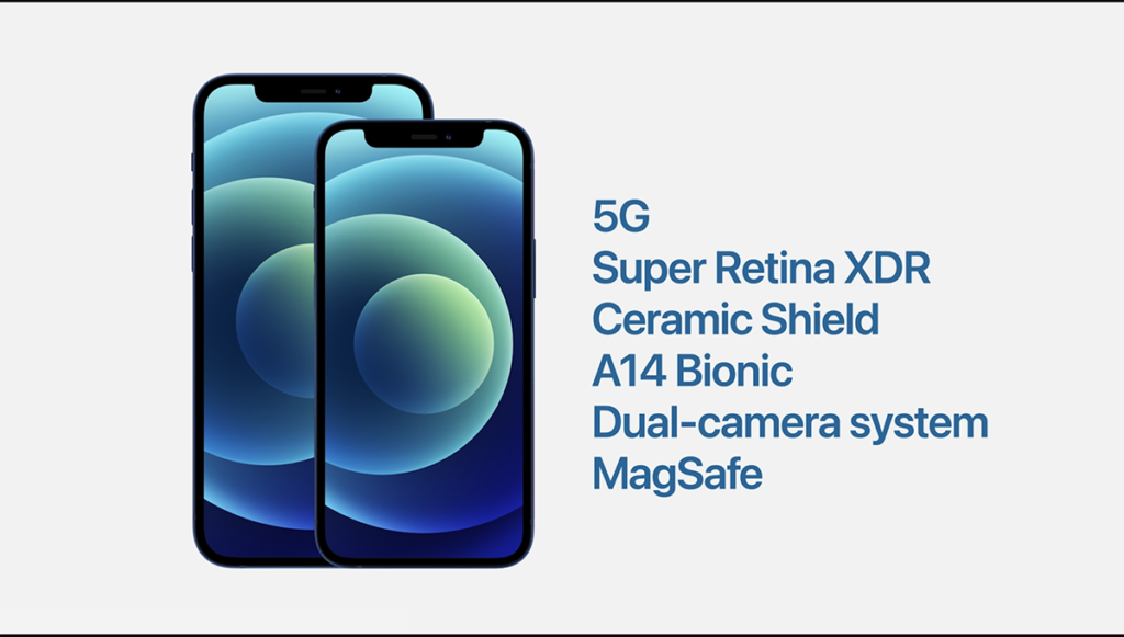 iPhone 12 Mini 使用了 5.4吋 Super Retina XDR 屏幕,機身僅重133g,相當輕盈,而功能上與 iPhone 12 相同。