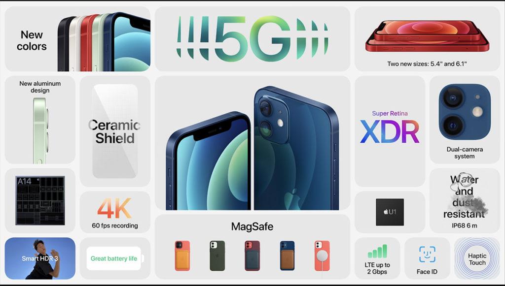 iPhone 12 及 iPhone 12 Mini 規格簡介。
