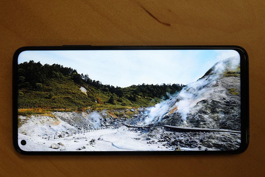 6.67 吋 FHD+ 開孔屏最高亮度可達 650nits,顏色表現不俗,對比鮮明。