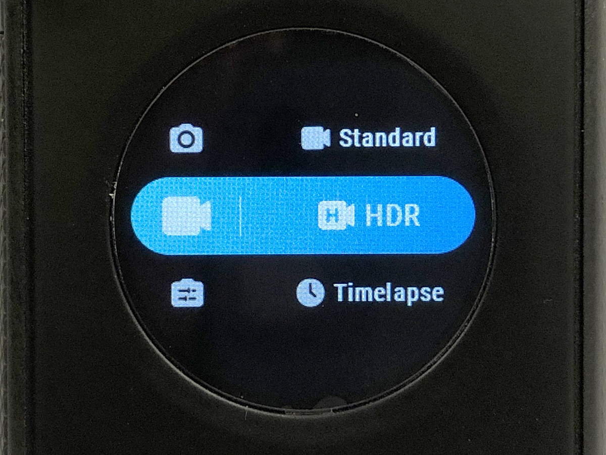 點選主介面左下方可設定詳細的拍攝模式,如影片的 HDR 拍攝等。