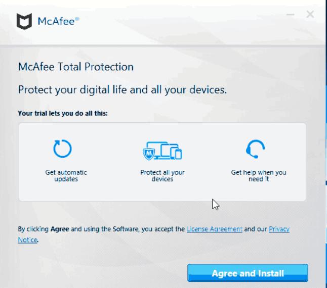 惡意電郵要求收件人從 GitHub 安裝一個合法版本的 McAfee 軟件,不過其實與此同時,受害者卻沒有察覺另一個惡意軟件已偷偷地安裝在電腦裡。