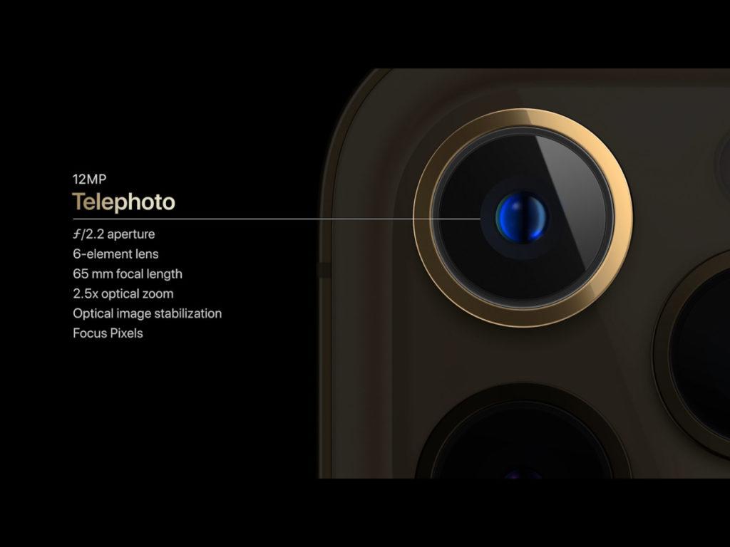 iPhone 12 Pro Max 的長焦距鏡頭,由 iPhone 12 / 12 Pro 的 52mm 變成 65mm。