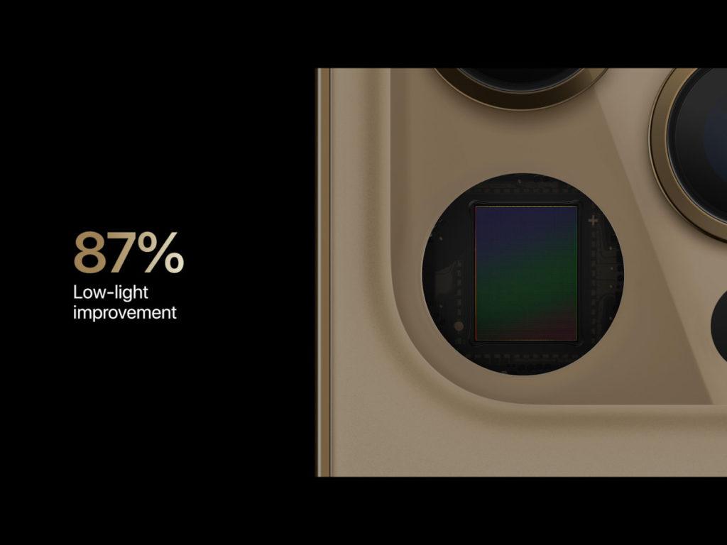感光元件大了,對低光拍攝有 87% 改善,拍片時作用相當大。