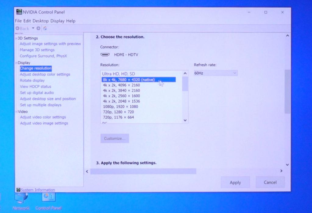 Q700T 的 HDMI 4 在開啟遊戲模式下,支援到 RTX 3080 的 8K 解像度顯示。使用時一定要檢查是否使用遊戲模式,以及 HDMI 線是可已經有支援 HDMI 2.1 。