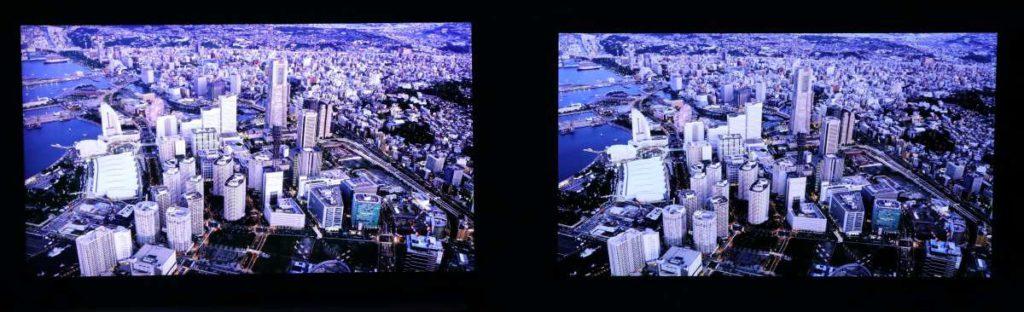 8K@Q700T (左)跟 4K 畫面在解像度的分別不算明顯,但畫面整體光度和對比度表現更自然。
