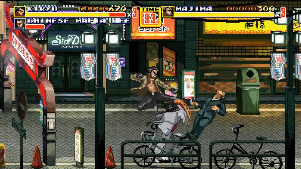 遊戲中支援單機雙打,讓玩家分別控制桐生一馬和真島吾朗。