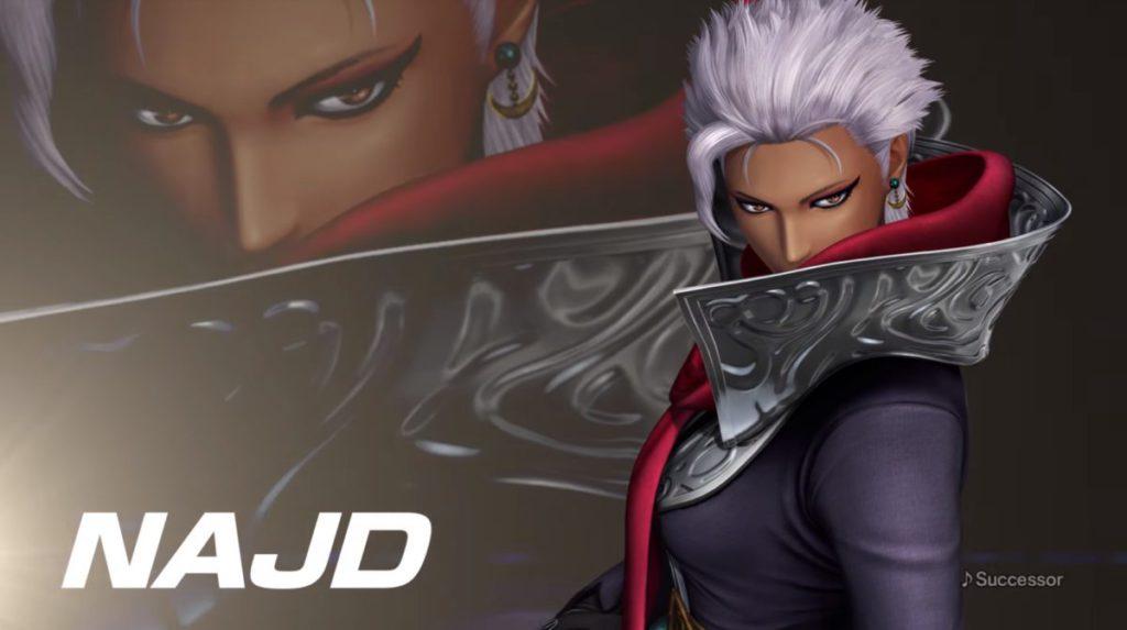 於《 KOF XIV 》 3 月推出的人物 NAJD 是來自阿拉伯的鬥士,在遊戲的強度更位置位於榜首。
