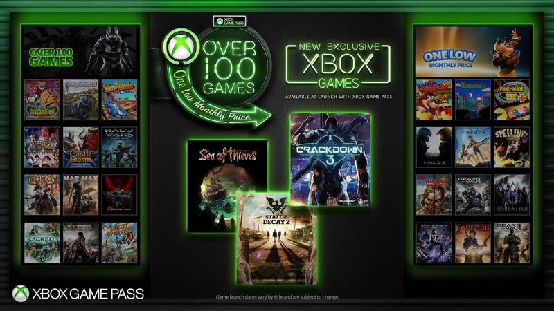 Xbox Game Pass Ultimate 提供超過一百款熱門大作可遊玩。