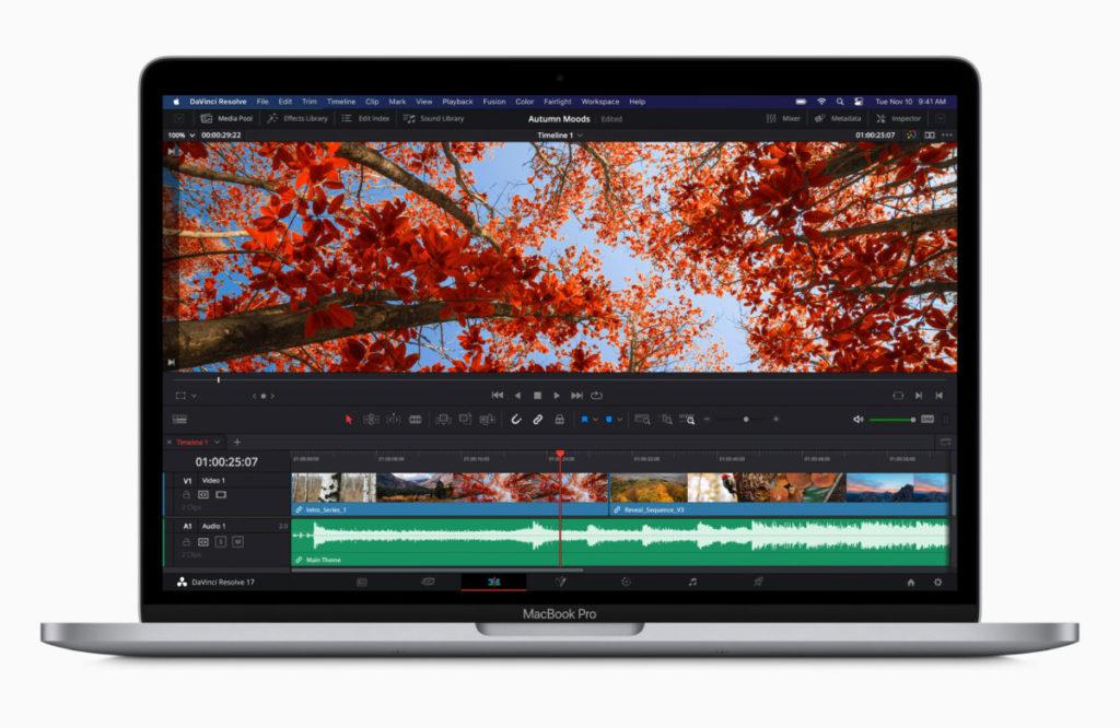 Apple 指新 13 吋 MacBook Pro 播放專業質素的 8K 影片不會 Drop Frame 。