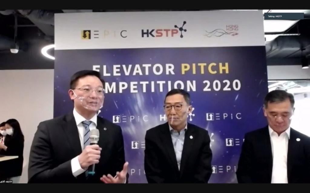 黃克強(中)表示,有 3 間本地創業公司進入最後 10 強算不錯。