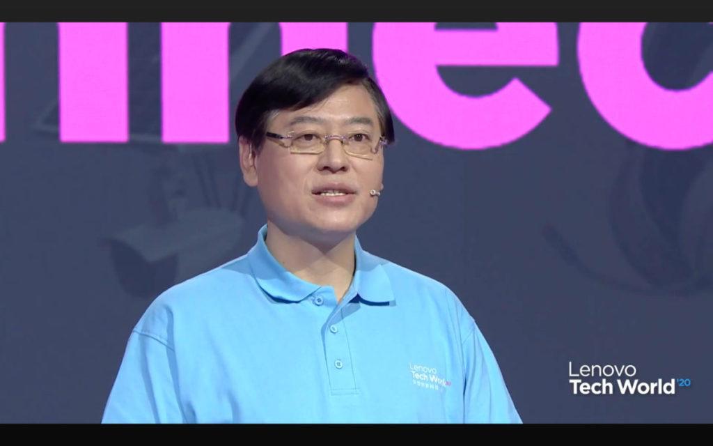 楊元慶表示,疫情推動企業轉型,聯想提出新基建:終端、邊緣、雲端、網絡、智能。