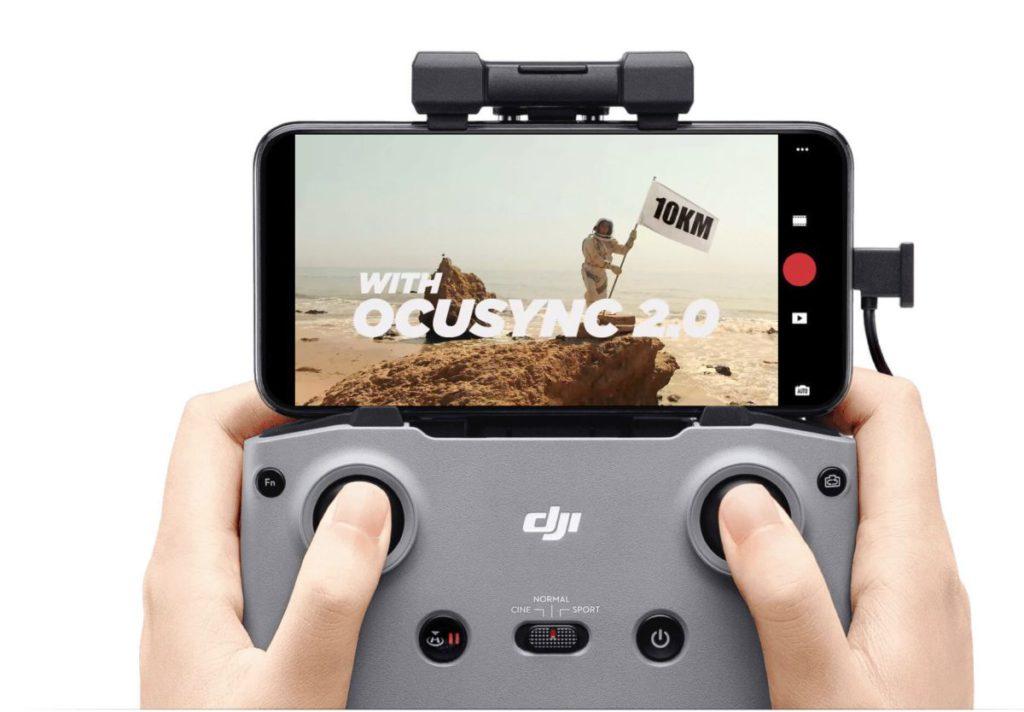採用 OcuSync 2 無線連接,有效範圍提升 2.5 倍,影片傳送距離可達 10km 。
