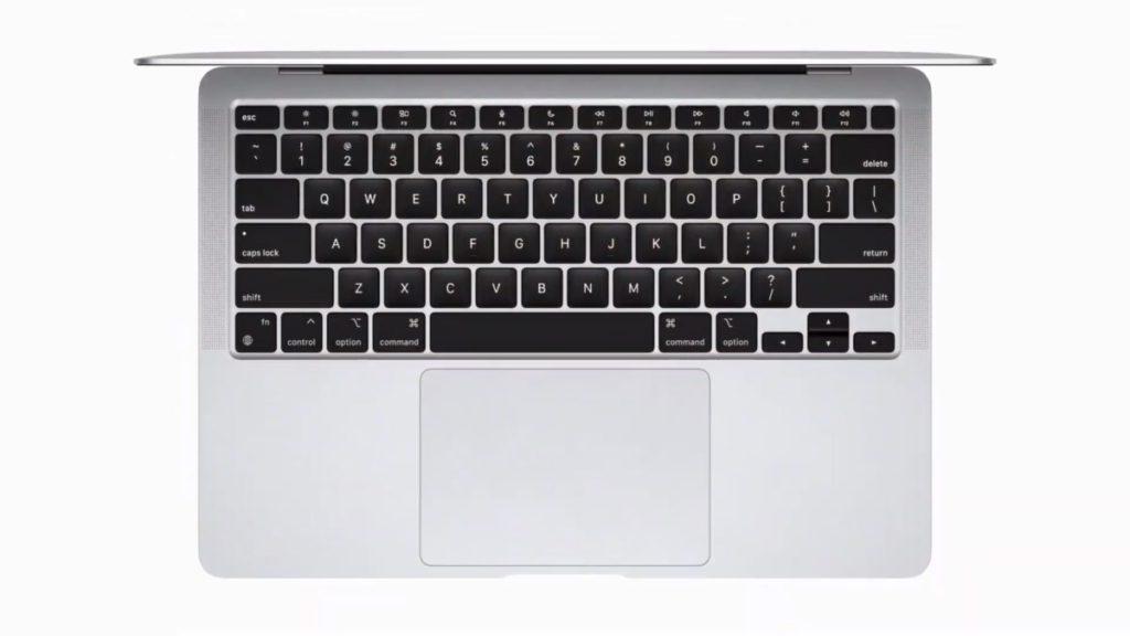 新 MacBook Air 用上剪刀式按鍵的鍵盤,而且具備 Touch ID 指紋解鎖。