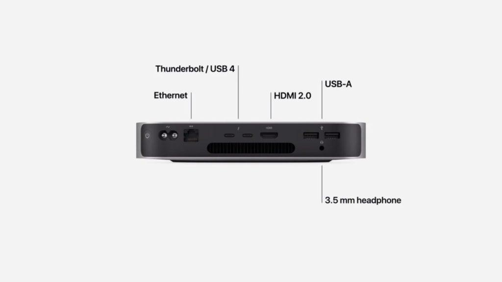 Mac Mini 的連接性是三款新機中最有優勢的,可以同時連接 1 部高達 6K@60Hz 顯示器 + 1 部 4K@60Hz 顯示器,Wi-Fi 6 同 Thunderbolt 4 / USB 4  也一應俱全。