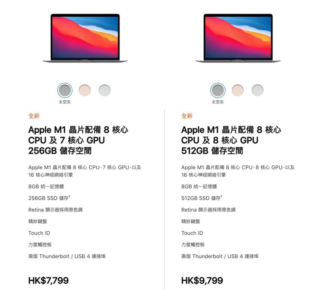 高配低配,差別除了在 SSD 容量上,就只差一個 GPU 核心。