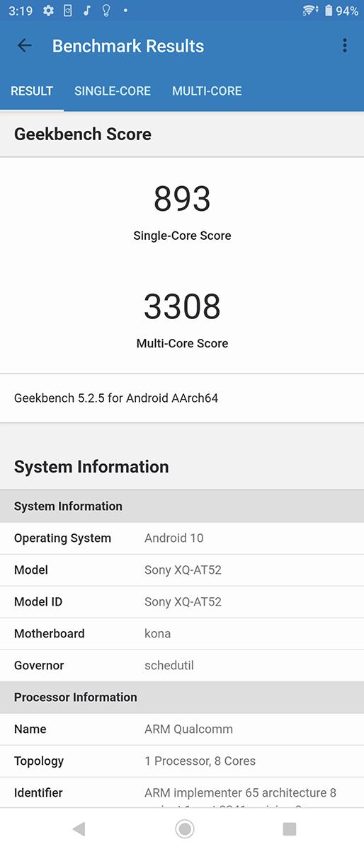 8GB 版本 Geekbench 5 分數。