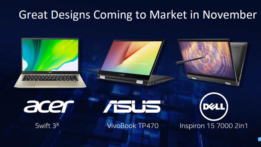 首批上市採用 Iris Xe MAX 晶片的筆電產品。