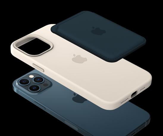 更會有動畫顯示手機本身結合 MagSafe 保護套及 MagSafe 皮革銀包的效果如何。
