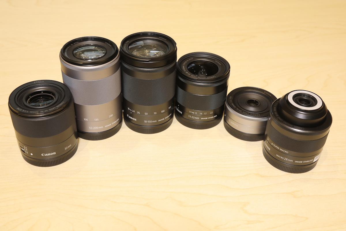 有多款 EF-M 鏡頭可配合使用。