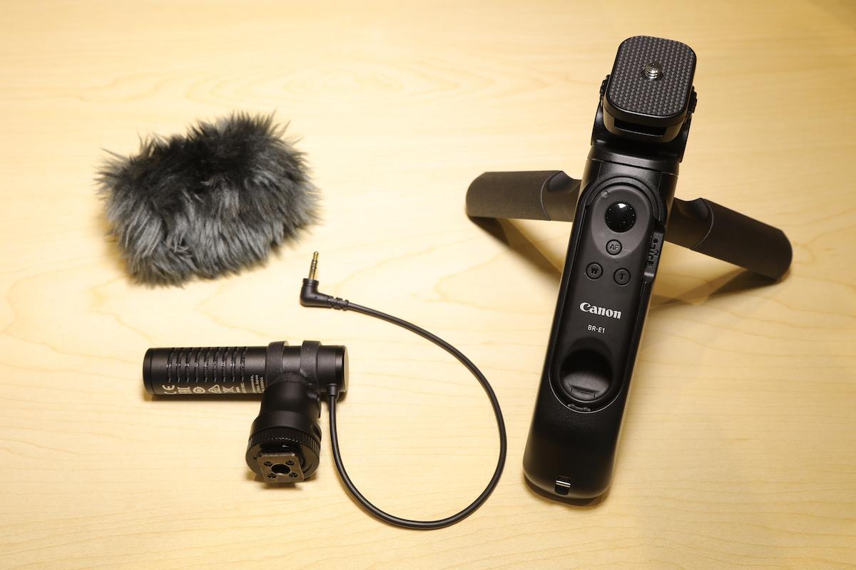 Vlog 配件組合換購優惠包括有三腳架手柄及立體聲咪高峰。