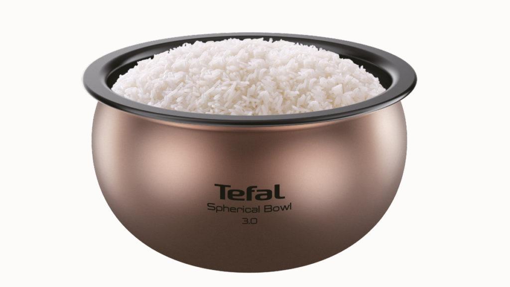 球釜內鍋的內膽表面則採用 62° 黃金比例弧度,形成超強熱力對流