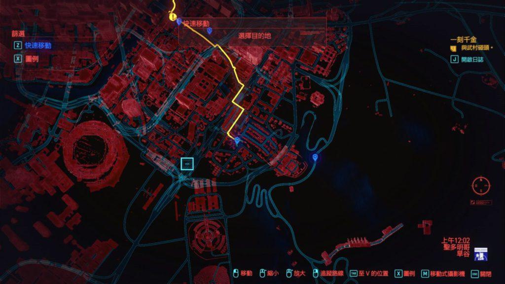 先要前往地圖右下方「聖多明哥」的圖中位置 。