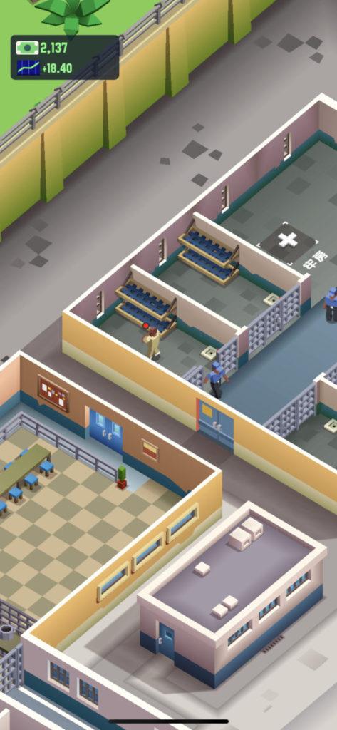 遊戲已預先設置了部分設施,玩家之後就需要為各個設施進行升級。