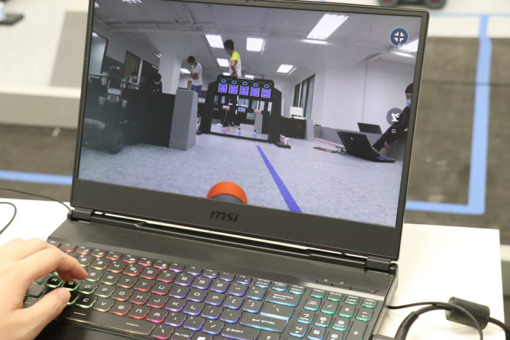 比賽內容之一,需通過視像辨識才能過關。
