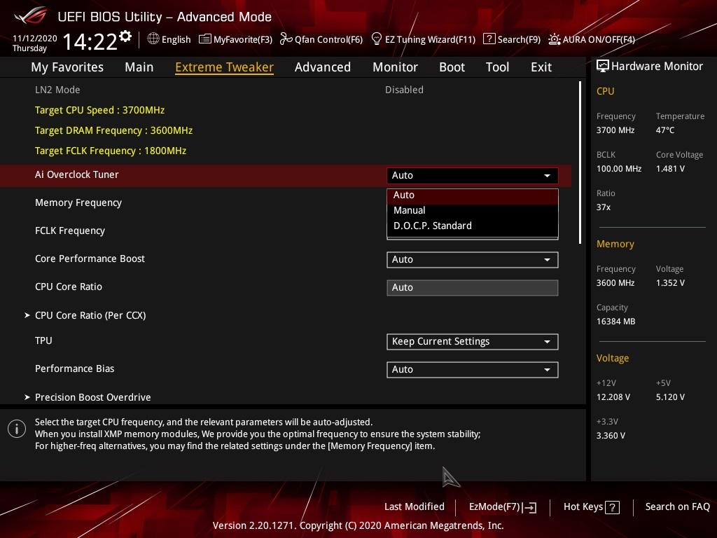 板上雖可支援 Ryzen 9 5900X 等 CPU ,但未提供相應的 OC Profile 。