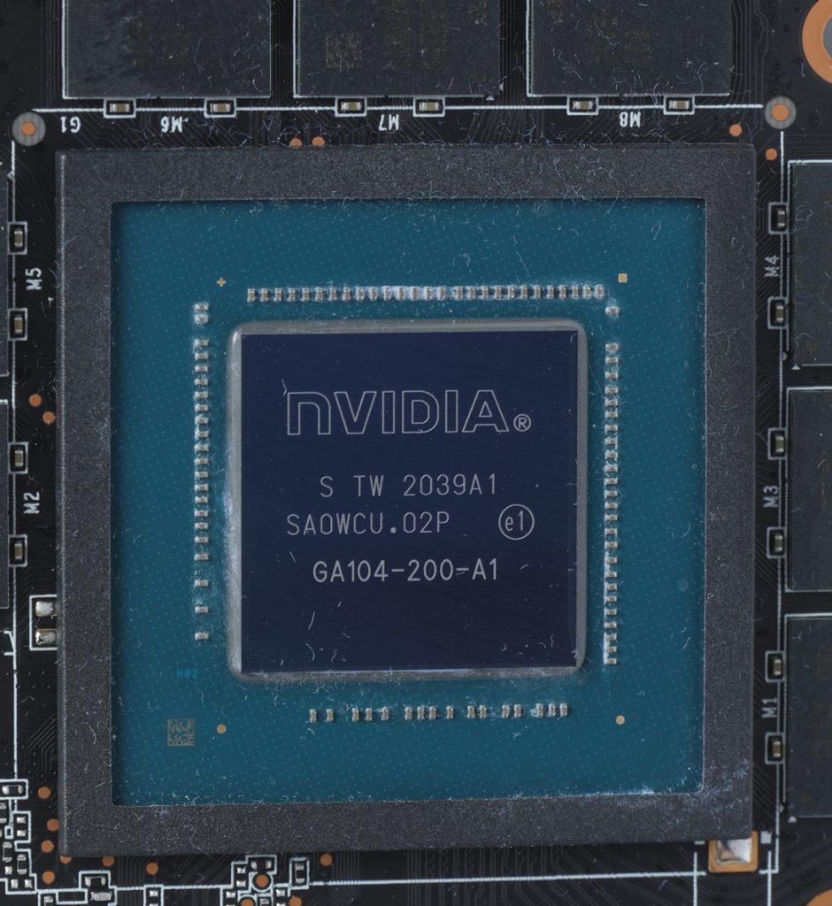 RTX 3060 Ti 採用 GA104-200-A1 核心而有別於 RTX 3070 的 GA104-300-A1 核心。