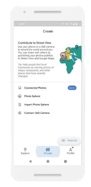 使用支援ARCore手機可協助錄製地圖。