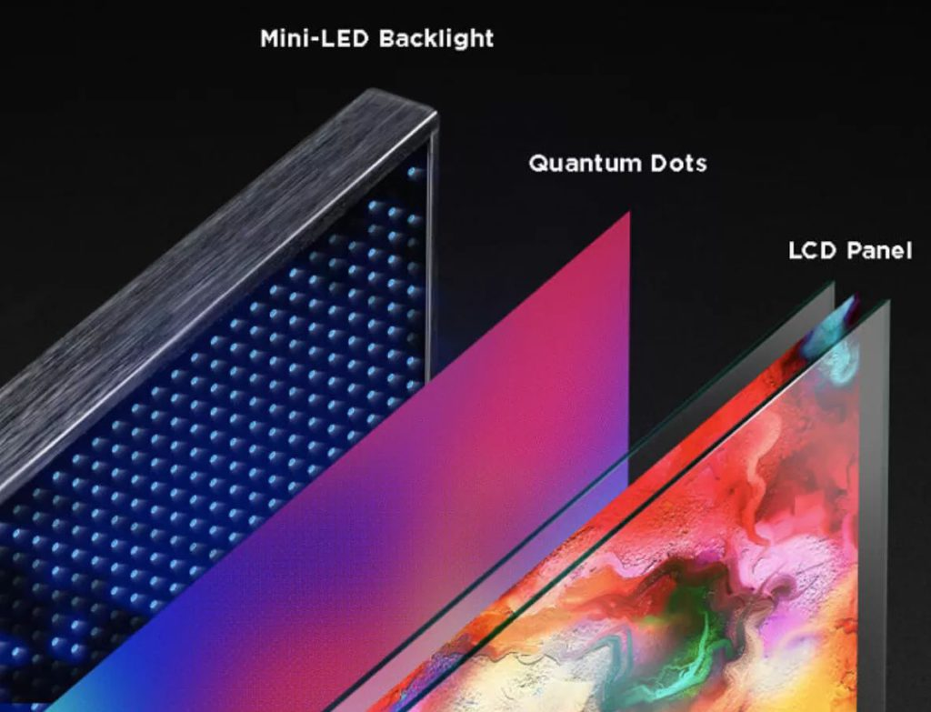 Mini LED 背光技術令電視具有更佳對比度和更深沉的黑位。(圖片來源:TCL)