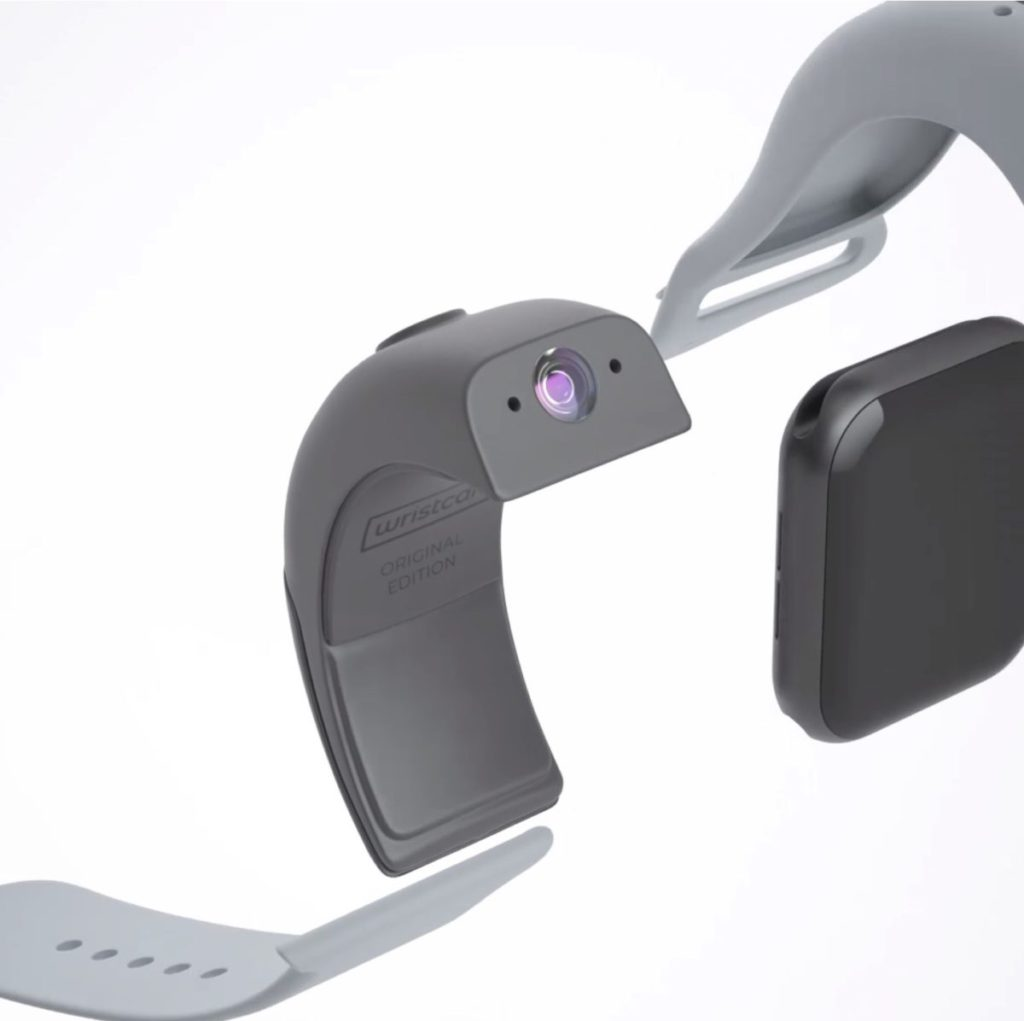 Wristcam 由雙鏡頭模組和矽膠錶帶組成,嵌在 Apple Watch 之上。
