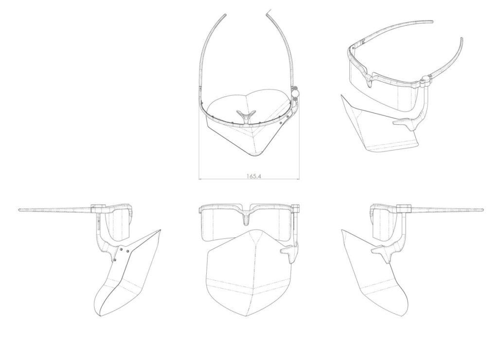 面罩的資料放在凸版印刷的特設網頁供公眾免費下載,有 3D 打印機就可以自行製作面罩。