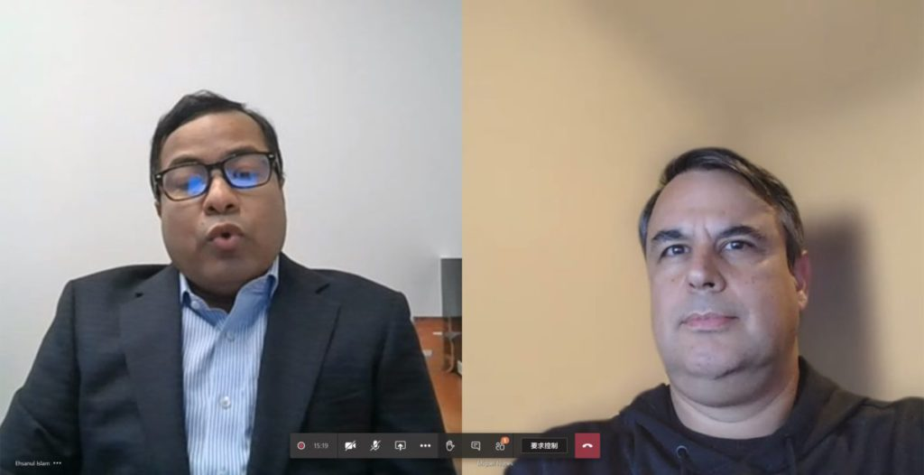 Qualcomm 東南亞及台灣地區工程副總裁 Ehsanul Islam (左)和產品管理高級總監 Miguel Nunes 。
